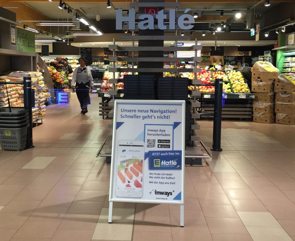 inways jetzt im Edeka Hatlé Supermarkt und Mobau Baustoff Union Baumarkt. Kickoff im Rahmen von Aachen2025