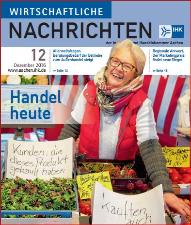 """inways in den wirtschaftlichen Nachrichten 12/2016 – """"Handel heute"""""""