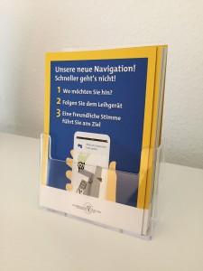 Der neue Flyer im Marienhospital (Vorderseite)