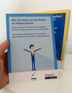 Der neue inways-Flyer im Marienhospital (Rückseite)