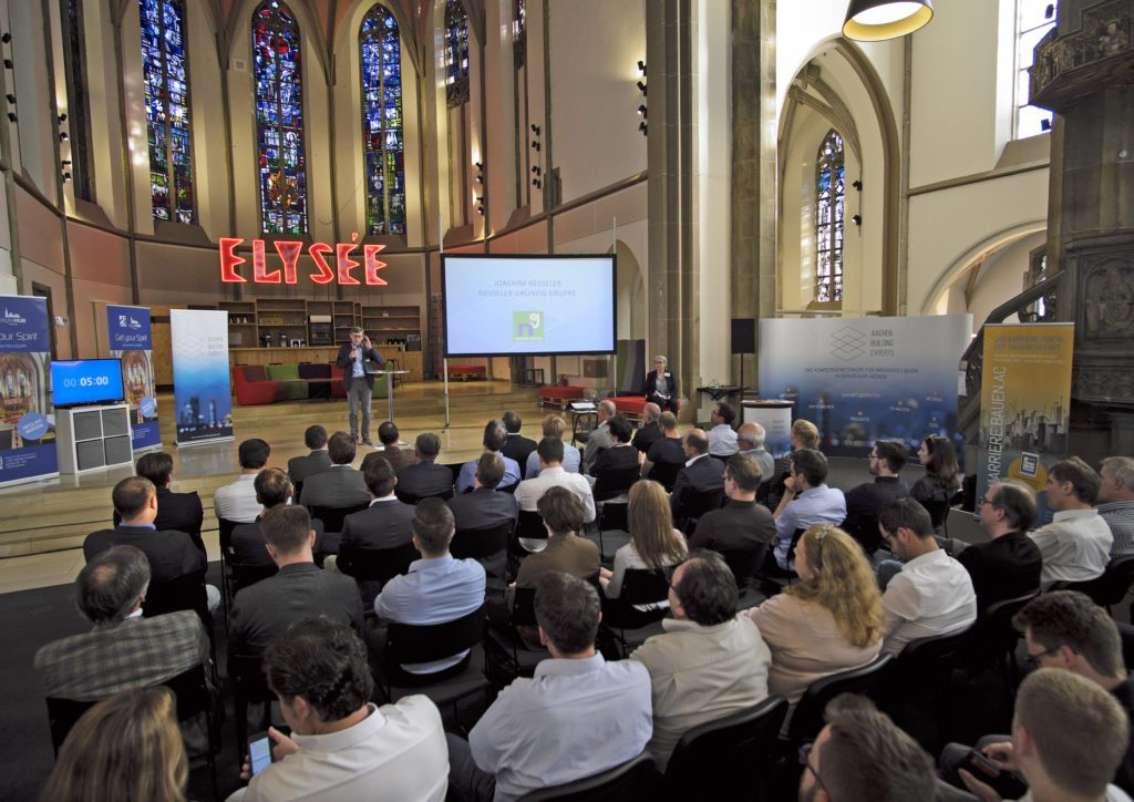 WEGZWEI bei AACHEN BUILDING EXPERTS meet the Start-Ups in der DIGITAL CHURCH
